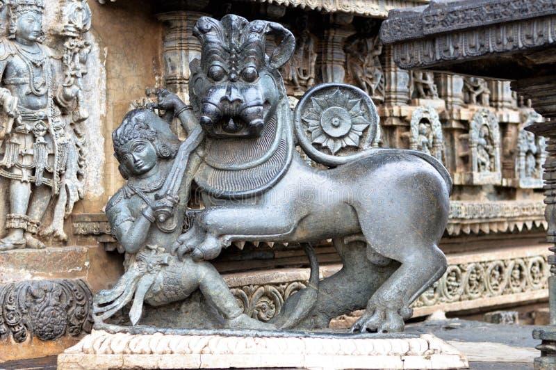 Tempio di Chennakeshava, Belur fotografie stock