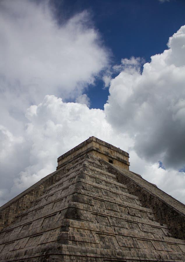 Tempio di Chichen Itza Messico immagine stock
