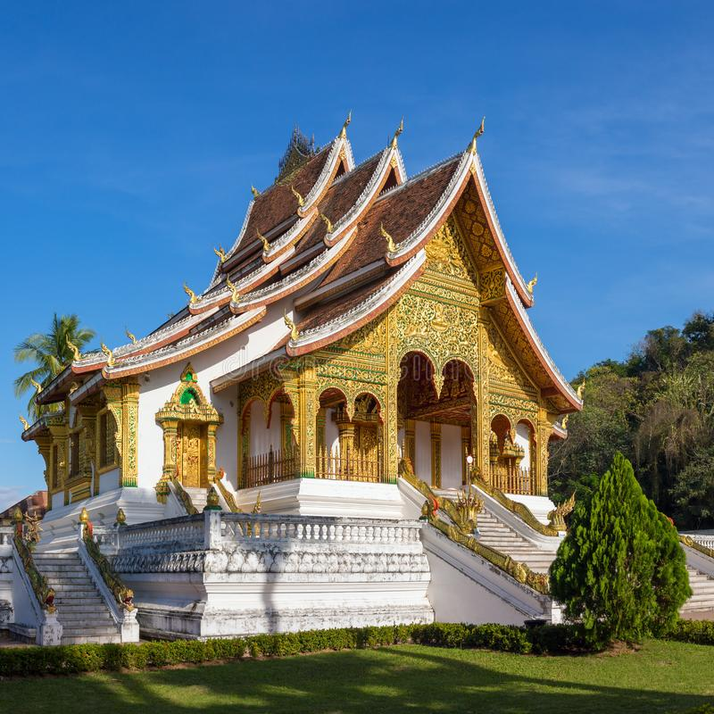 Tempio di colpo di Pha del biancospino in Luang Prabang fotografia stock