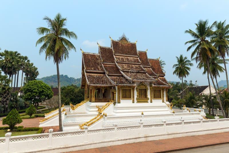 Tempio di colpo di Pha del biancospino in Luang Prabang fotografie stock libere da diritti