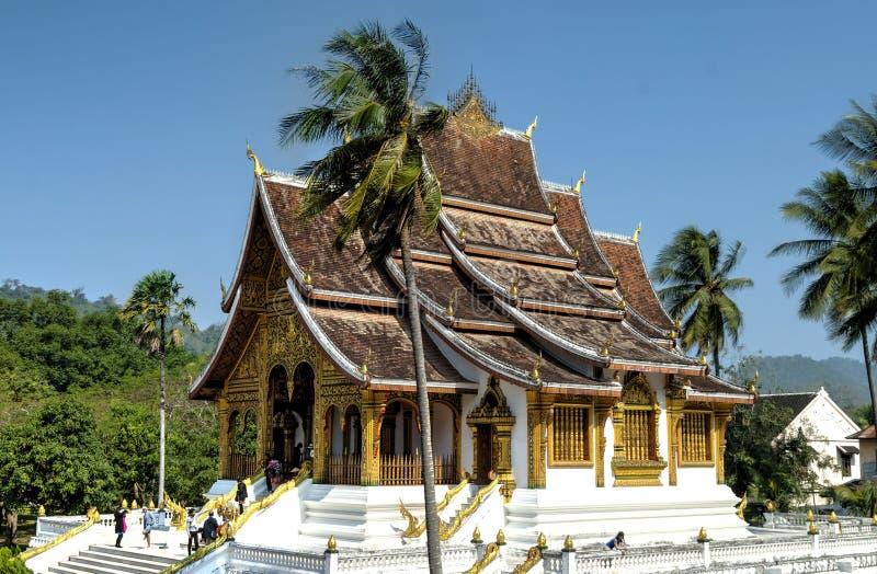 Tempio di colpo di Pha del biancospino, Luang Prabang immagine stock