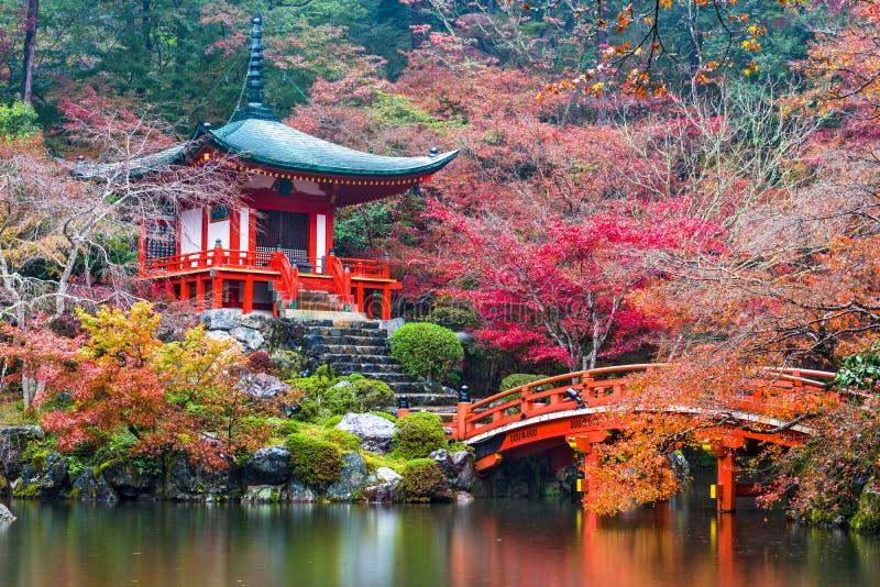 Tempio di Daigo-ji in autunno fotografia stock libera da diritti