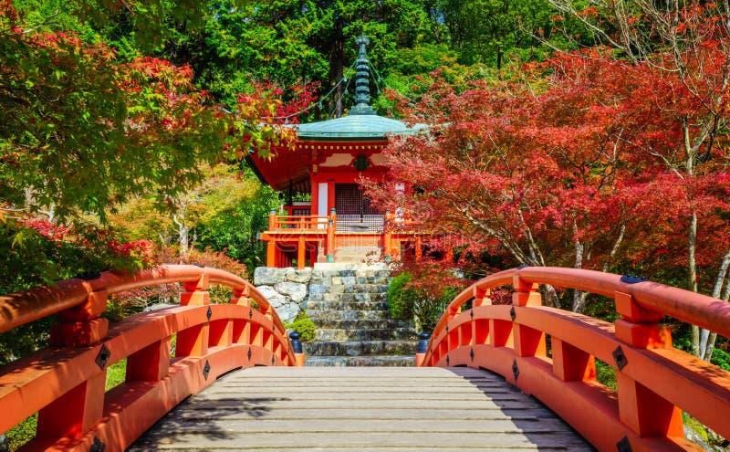 Tempio di Daigoji, Kyoto, Giappone fotografia stock libera da diritti