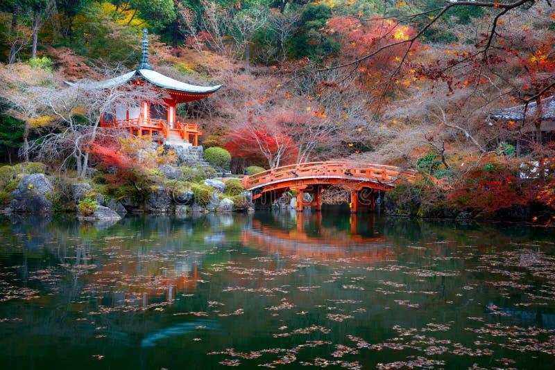 Tempio di Daigoji, Kyoto Giappone immagine stock