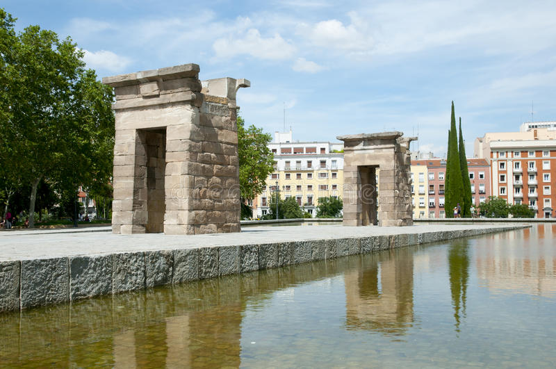 Tempio di Debod - Madrid - la Spagna fotografia stock