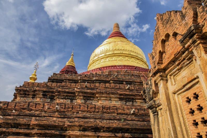 Tempio di Dhammayzika in Bagan Myanmar fotografia stock libera da diritti