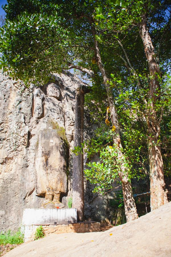 Tempio di Dhowa Raja Maha Viharaya, Sri Lanka immagine stock