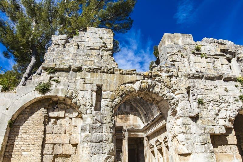 Tempio di Diana a Nimes, Francia immagine stock