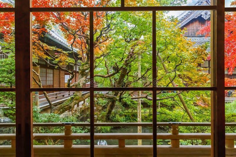 Tempio di Eikando Zenrin-ji a Kyoto immagini stock