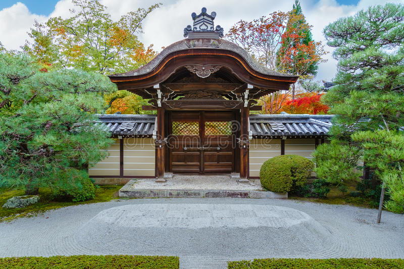 Tempio di Eikando Zenrin-ji a Kyoto fotografia stock