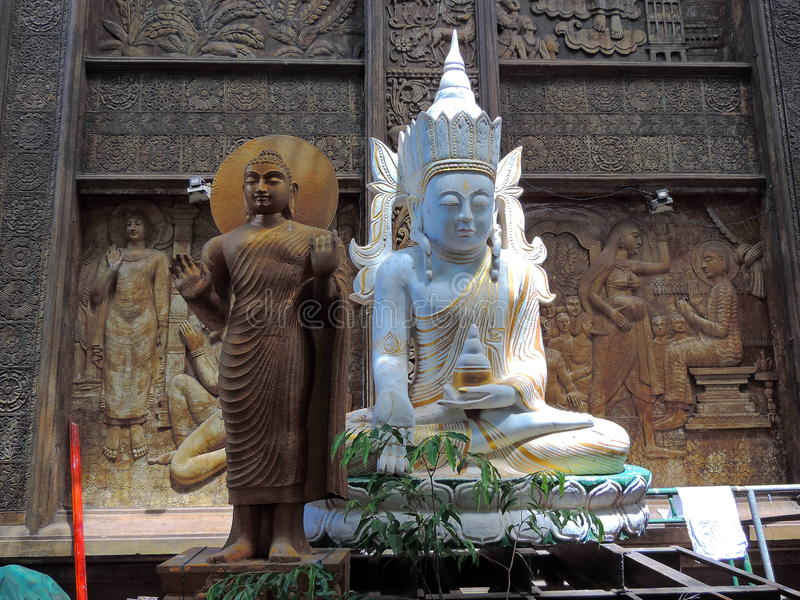 Tempio di Gangarama - Colombo fotografia stock libera da diritti