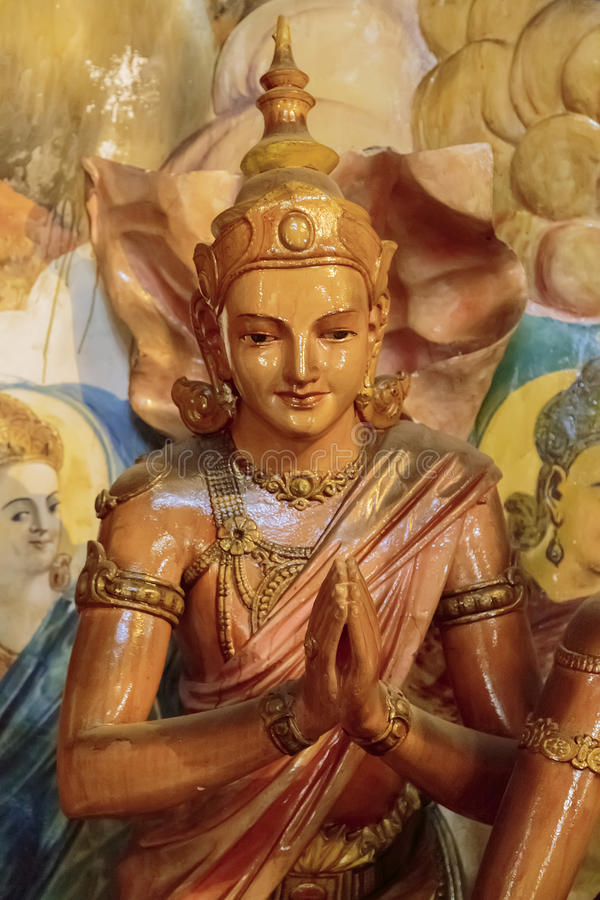 Tempio di Gangaramaya a Colombo immagini stock