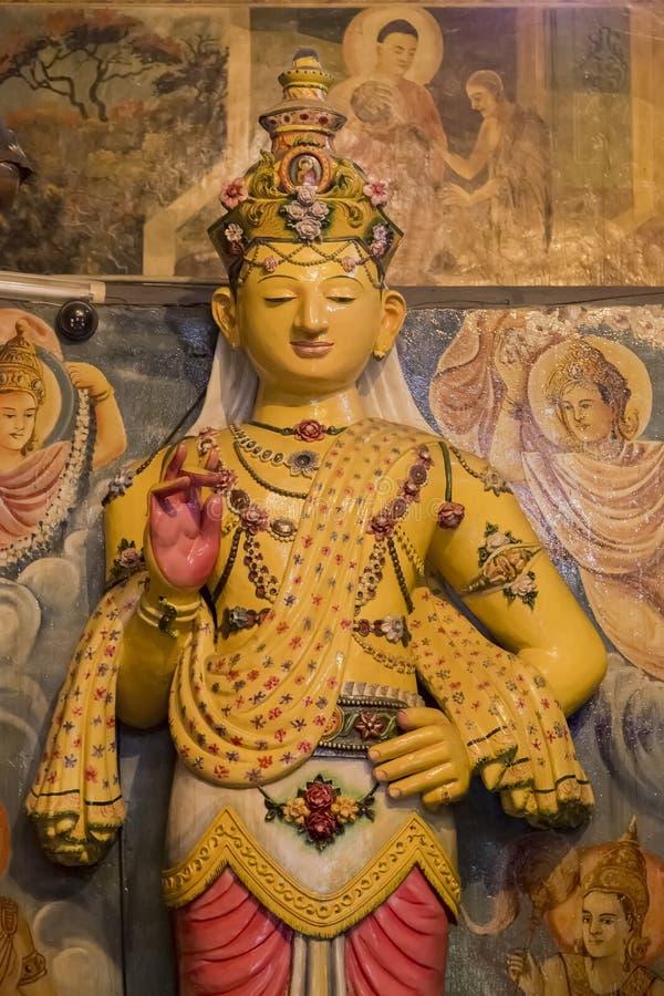 Tempio di Gangaramaya a Colombo fotografie stock libere da diritti