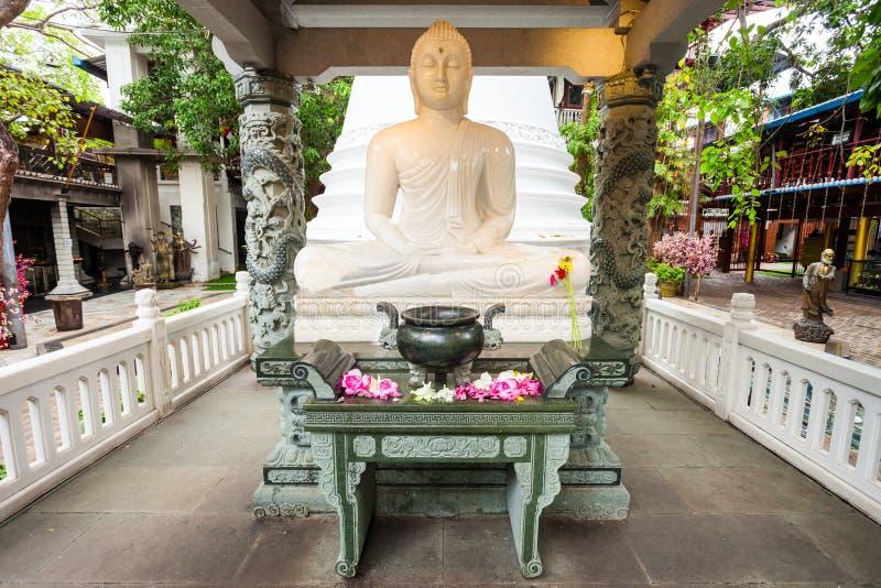 Tempio di Gangaramaya a Colombo fotografia stock