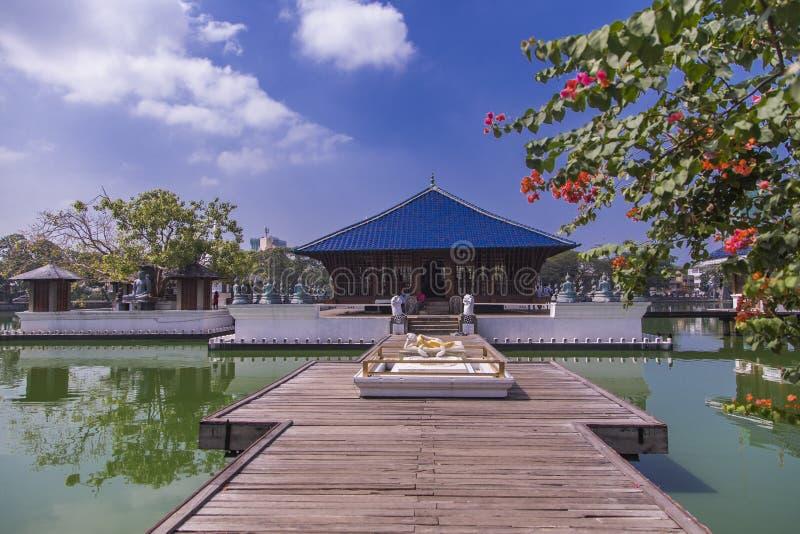 Tempio di Gangaramaya a Colombo, Sri Lanka immagine stock