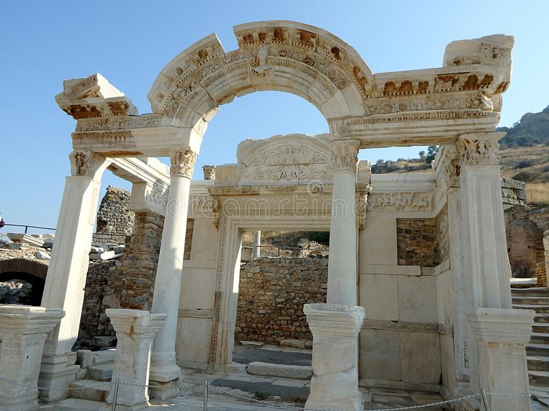 Tempio di Hadrian, fotografia stock libera da diritti