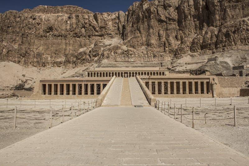 Tempio di Hatshepsut nell'Egitto fotografia stock libera da diritti