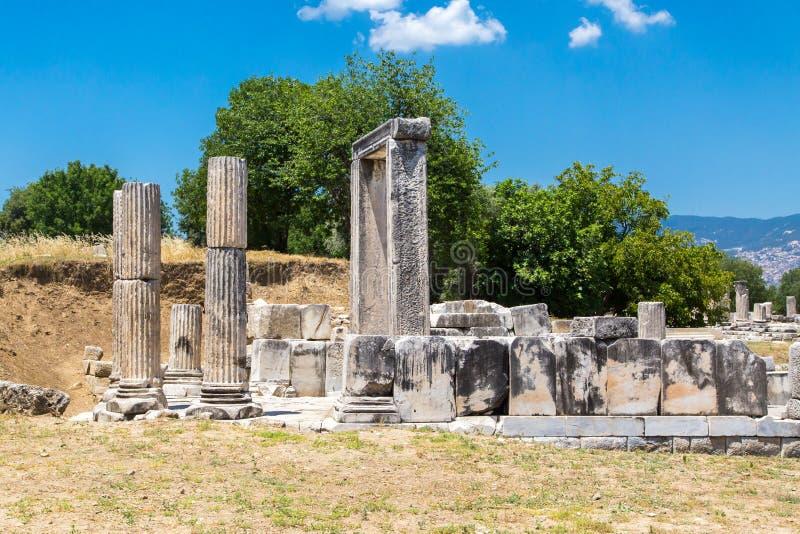 Tempio di Hecate in Lagina fotografia stock