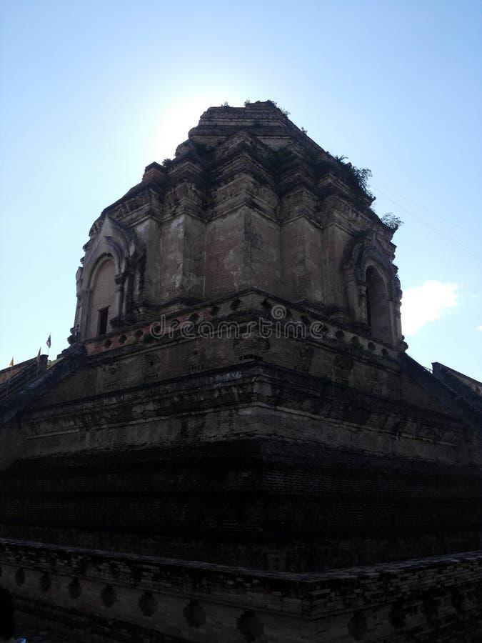 Tempio di Jedi Luang in Chiang Mai immagine stock libera da diritti
