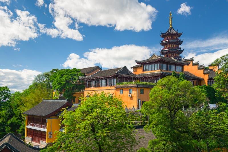 Tempio di Jiming a Nanchino, Cina immagini stock libere da diritti