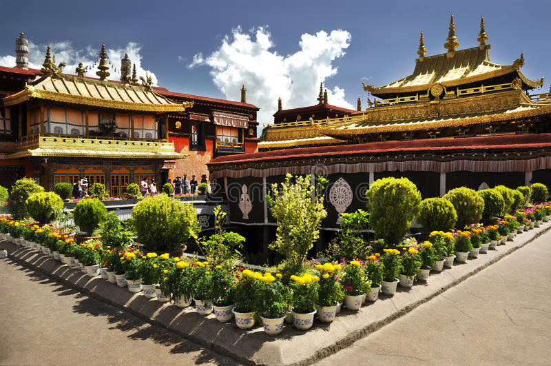 Tempio di Jokhang immagini stock libere da diritti