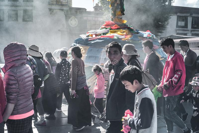 Tempio di Jokhang fotografie stock