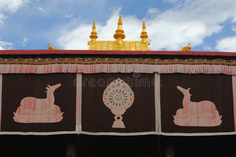 Tempio di Jokhang fotografie stock libere da diritti