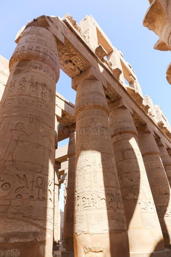 Tempio di Karnak - Egitto fotografia stock libera da diritti