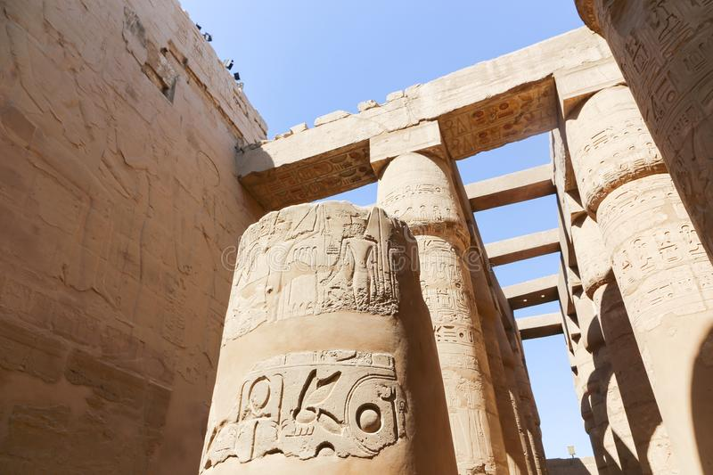 Tempio di Karnak - Egitto immagini stock