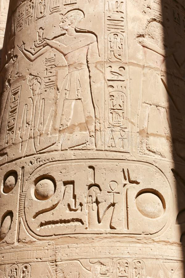 Tempio di Karnak - Egitto fotografie stock libere da diritti