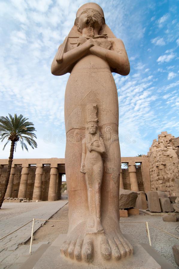 Tempio di Karnak - Luxor, Egitto, Africa fotografie stock libere da diritti