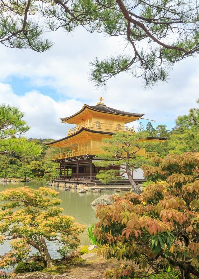 Tempio di Kinkaku-ji, Giappone fotografia stock