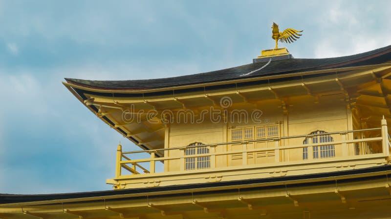 Tempio di Kinkakuji (il padiglione dorato) a Kyoto, Giappone Phoerix immagini stock libere da diritti