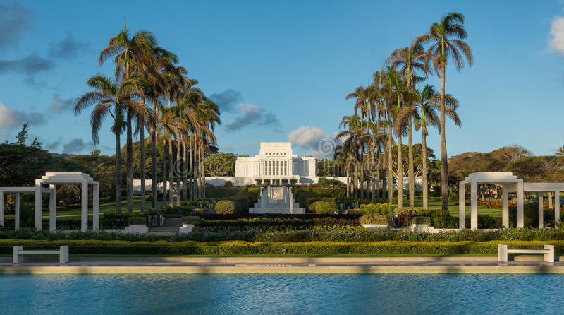 Tempio di Laie Hawai fotografia stock libera da diritti