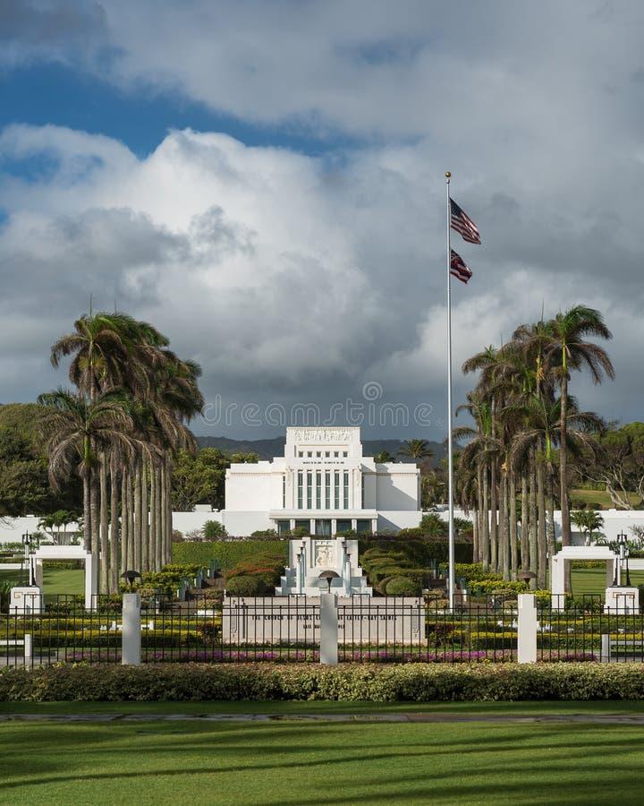 Tempio di Laie Hawai immagine stock