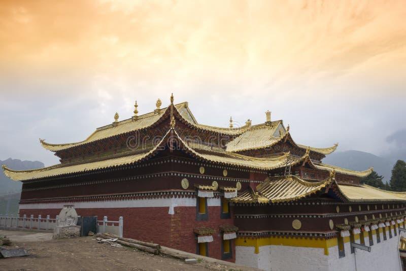 Tempio di Langmusi, Sichuan immagine stock libera da diritti