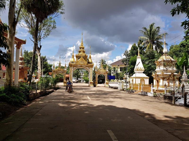 Tempio di laotiano, bella architettura del Laos Vientiene al parco di Buddha a Vientiane, Laos immagini stock