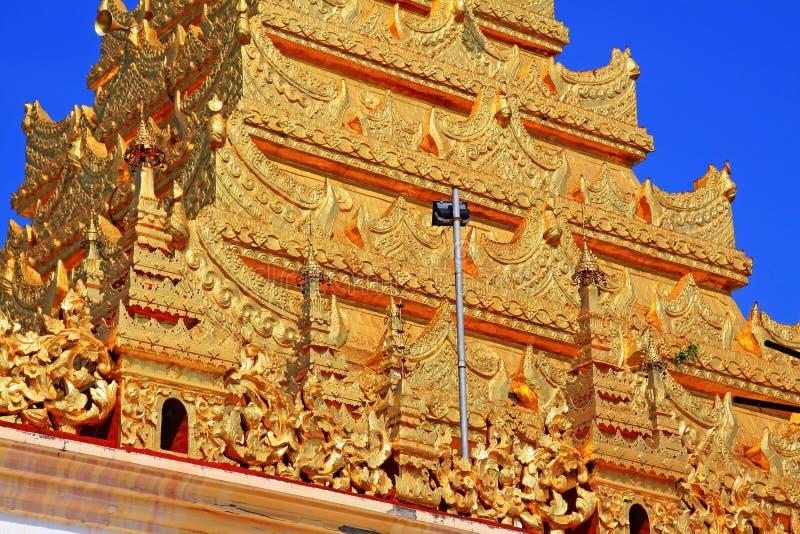 Tempio di Mahamuni Buddha, Mandalay, Myanmar fotografie stock