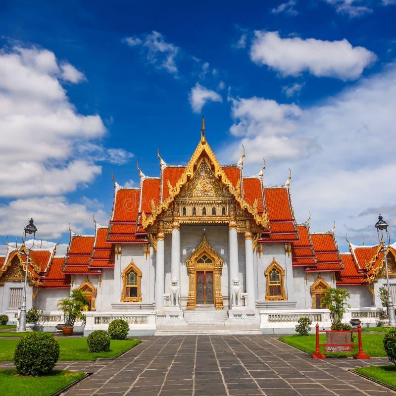 Tempio di marmo Bangkok Tailandia fotografia stock libera da diritti