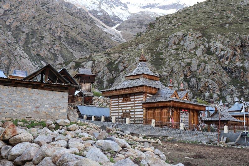 Tempio di Mathi, Chitkul, Himachal Pradesh immagine stock
