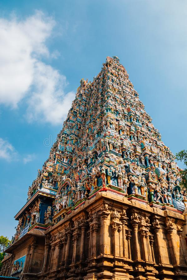 Tempio di Meenakshi Amman a Madura, India fotografie stock libere da diritti