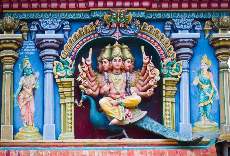 Tempio di Meenakshi a Madura, India fotografie stock libere da diritti
