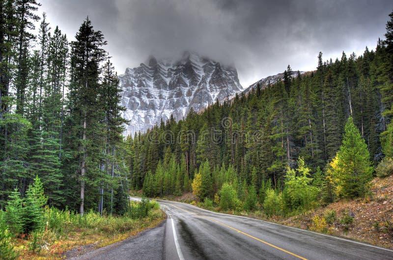 Tempio di Mt - Alberta Canada fotografie stock libere da diritti