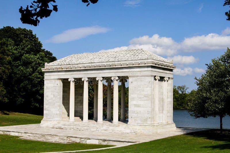 Tempio di musica, Roger Williams Park, provvidenza, RI fotografia stock