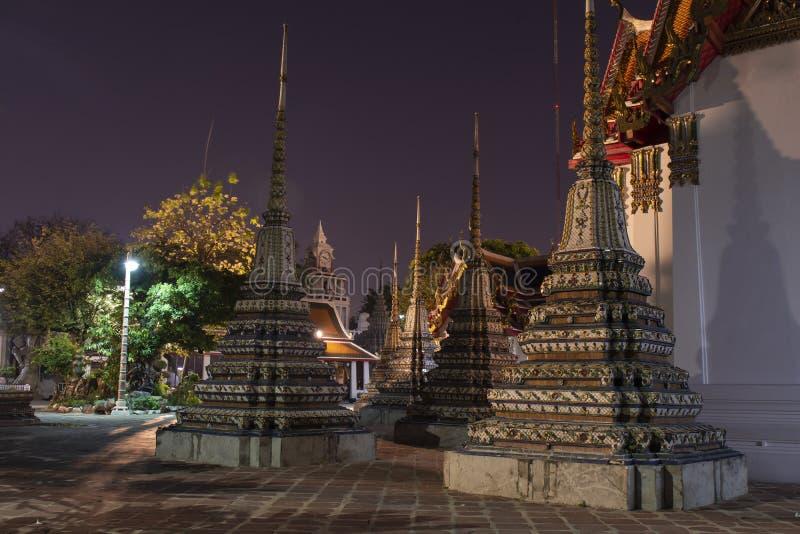 Tempio di notte della Tailandia di Bangkok fotografie stock