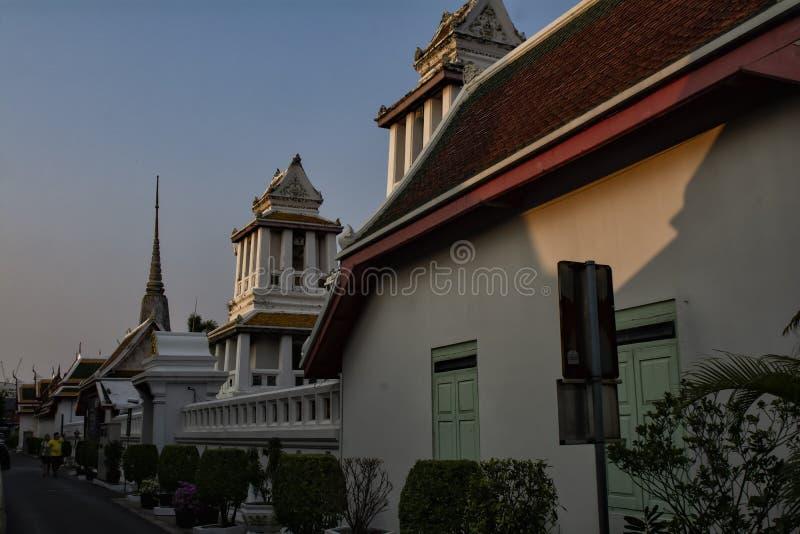 Tempio di notte della Tailandia di Bangkok fotografia stock libera da diritti