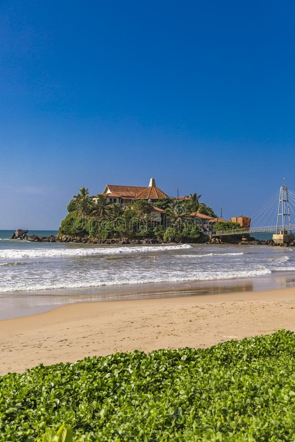 Tempio di Paravi Duwa in Matara, Sri Lanka immagini stock libere da diritti