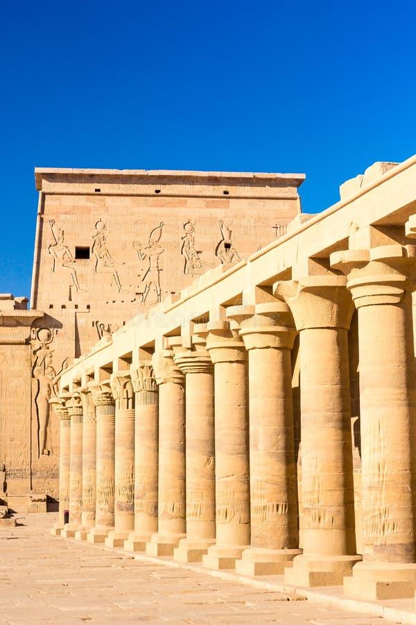 Tempio di Philae a Assuan sul Nilo nell'Egitto immagini stock