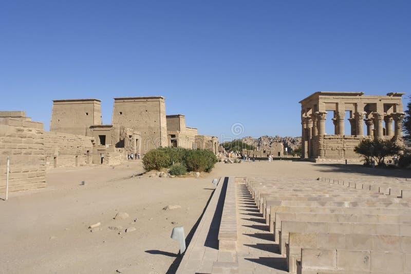Tempio di Philae nell'Egitto fotografia stock libera da diritti
