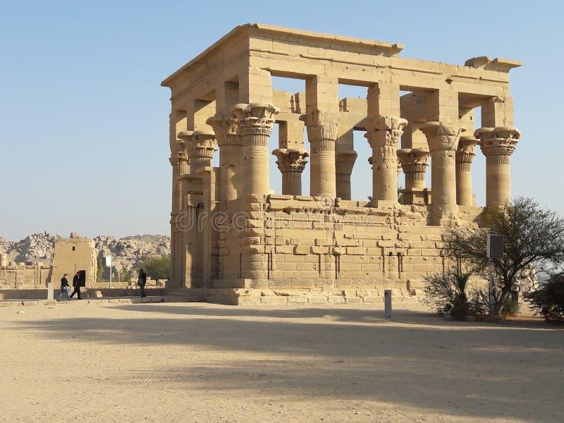 Tempio di Philea vicino ad Assuan nell'Egitto fotografia stock libera da diritti